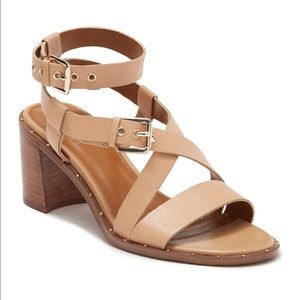 FRANCO SARTO Halina Strappy Block Heel Sandal NWB